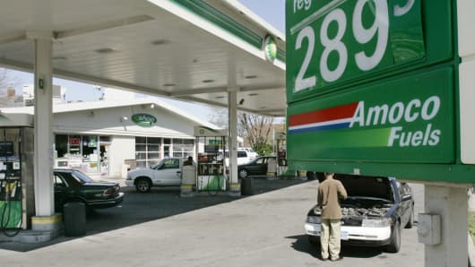Gasoline prices remained under $3.00 a gallon.