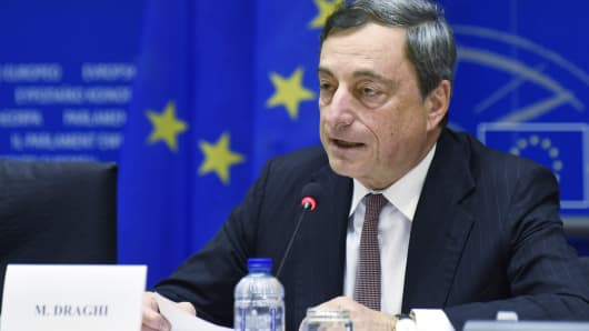 Mario Draghi ECB European Central Bank Europe economy