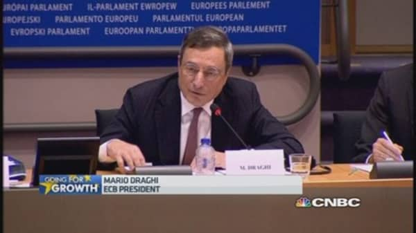 Draghi: Govt bond purchases are possible