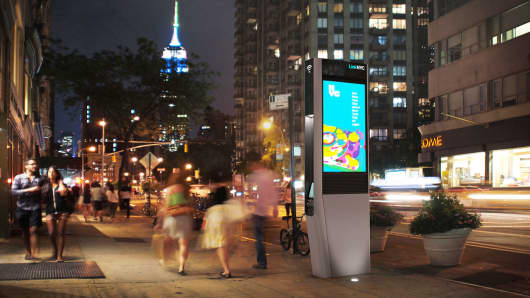 A LinkNYC location