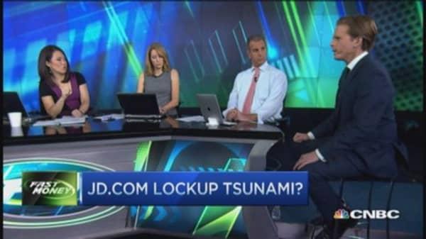 JD.com lockup expiring