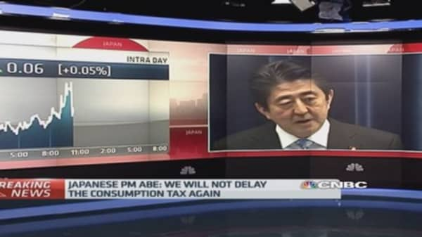 Japan PM Abe calls snap election