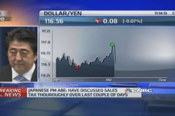 Japan PM delays second sales tax hike
