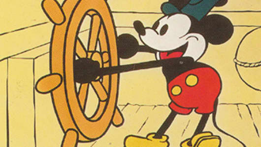 "Mickey Mouse in ""Steamboat Willie"" movie poster"