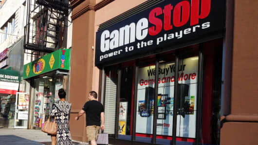 A GameStop store in New York.