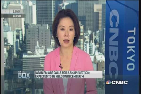 Japan PM calls snap polls