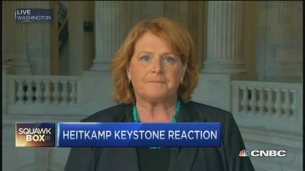 Sen. Heitkamp: Nebraska lawsuit likely stopped Keystone