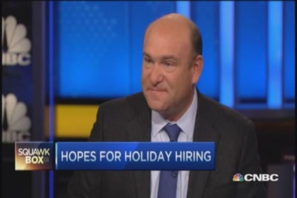 Holiday hiring surges