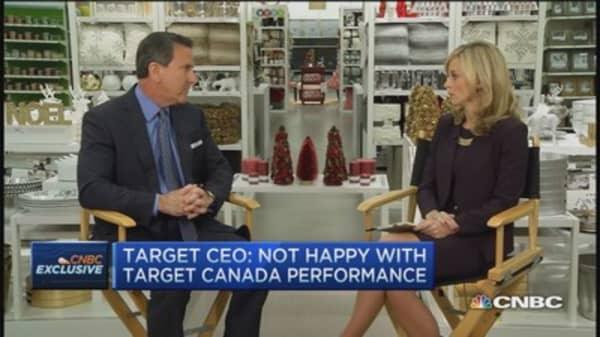 Target CEO unhappy with Canada performance