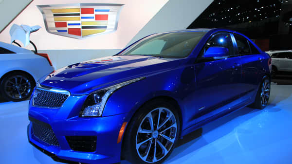 The 2016 Cadillac ATS-V unveiled at the 2014 L.A. Auto Show.