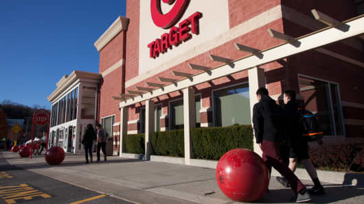 Shoppers at a Target store in Mount Kisco, New York.