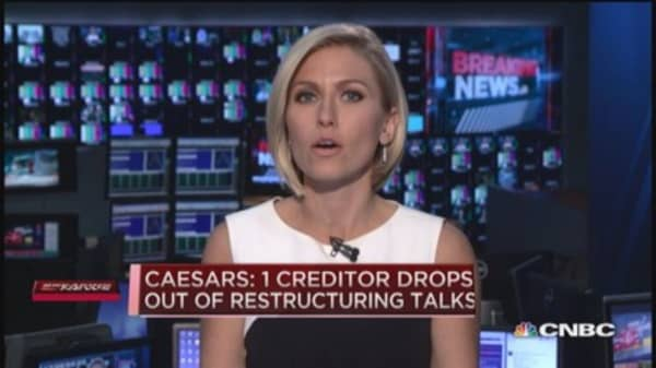 Caesars creditor drops out of restructuring talks