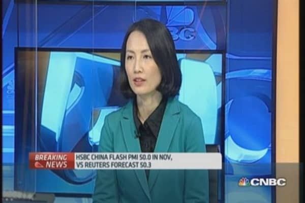 HSBC China November flash PMI 'isn't that bad': Pro