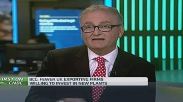 UK economy 'failing' on exports: BCC chief