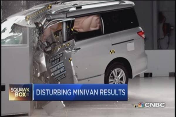 Minivan crash test results disturbing