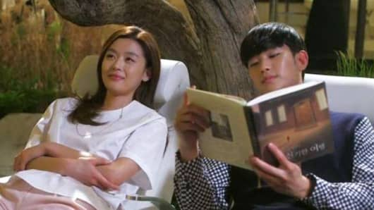 "A scene from ""My Love From Another Star,"" the most popular Korean drama in China"