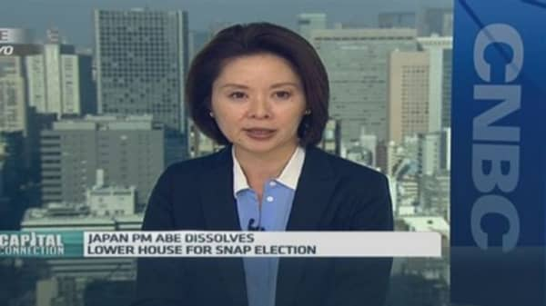 Japan's lower house dissolved for snap polls