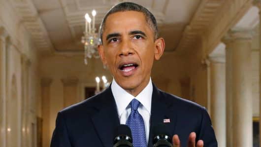 President Barack Obama speaks during a news conference in Washington, on Thursday, Nov. 20, 2014.