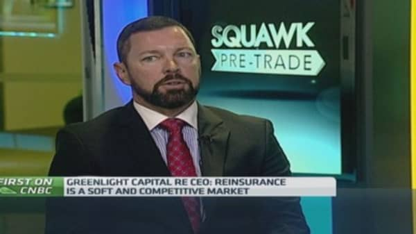 Reinsurance market 'soft': Greenlight Capital Re