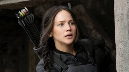 "Jennifer Lawrence in ""Hunger Games: Mockingjay Part 1"""