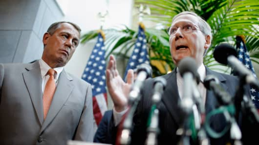 Rep. John Boehner and Sen. Mitch McConnell