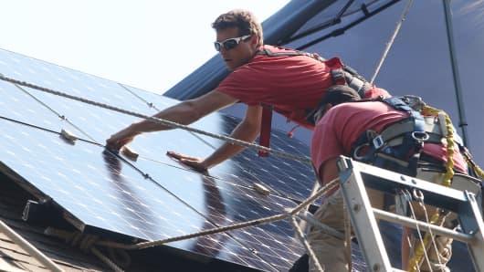Solar energy roof panels