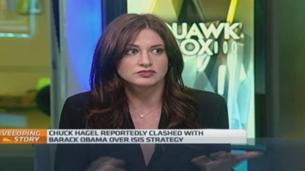 Was Hagel pushed or did he walk?