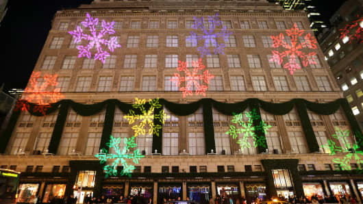 Exterior of Saks Fifth Avenue on November 24, 2014 in New York City.