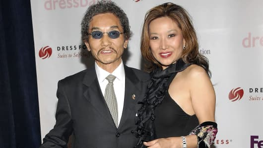 Benihana founder Rocky Aoki and his third wife, Keiko Aoki, in 2006.