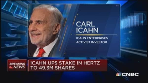 Icahn ups stake in Hertz: Report