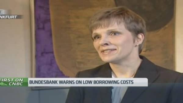 Bundesbank warns on ECB bubbles