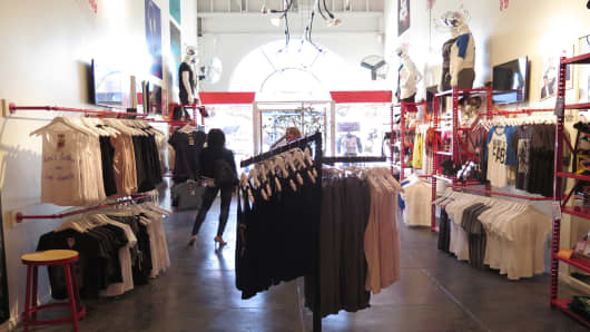 Awesomeness TV's West Hollywood pop-up store.