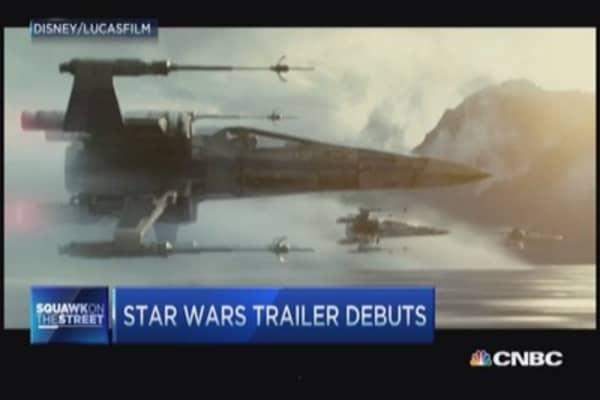 Star Wars trailer debut