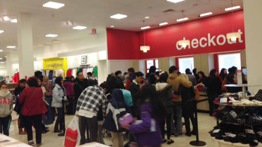 Crowds at J.C. Penney were surprisingly strong on Black Thanksgiving.