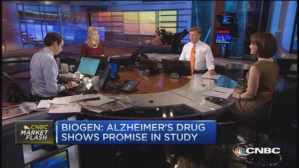 Biogen: Alzheimer's drug shows promise