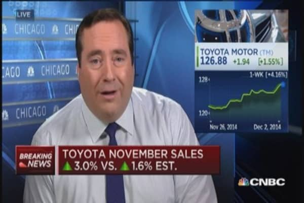 Toyota November US sales up 3.0%