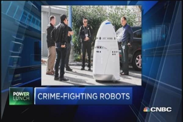 Crime-fighting robots