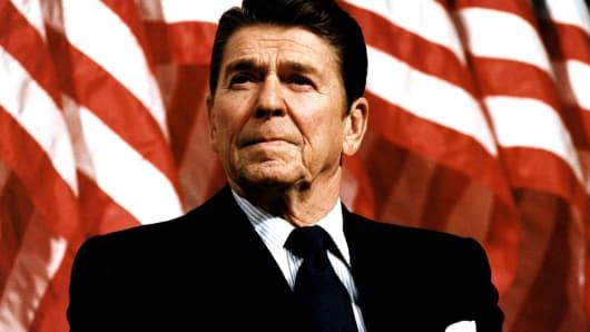 President Ronald Reagan in 1982.