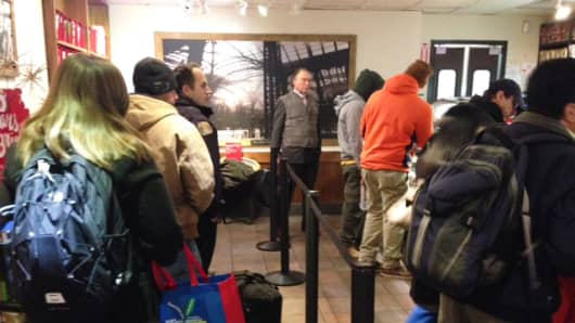 Starbucks impending launching of express ordering and delivery should reduce crowds.