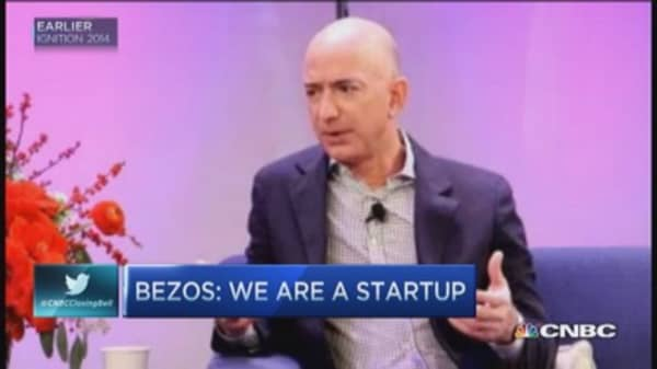 Bezos claims Amazon still a 'start-up'