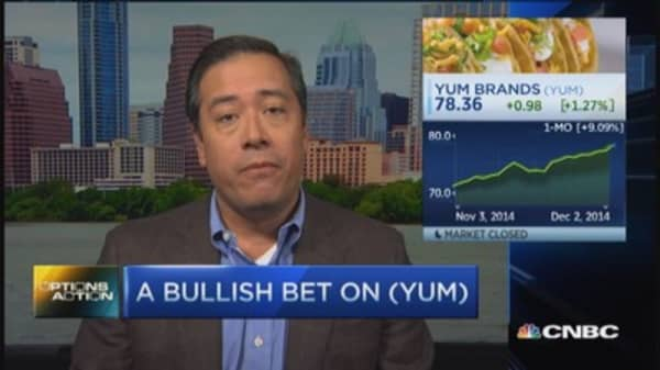 Options Action: Bullish Yum bet