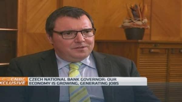 Weak koruna helped us avoid deflation: Czech cental bank chief
