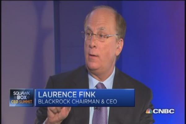 BlackRock CEO: Oil's spectacular event