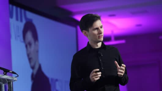 Pavel Durov, founder of the Russian social media giant Vkontakte, at a tech industry conference in San Francisco, Dec. 2, 2014.