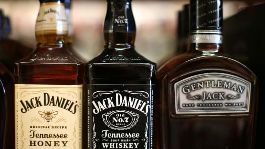 Bottles of Jack Daniel's whiskey