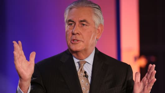 Rex Tillerson, CEO and chairman of Exxon Mobil.