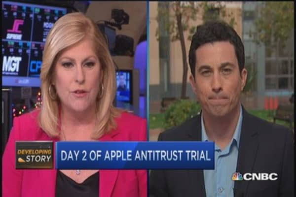 Day 2: Apple antitrust trial