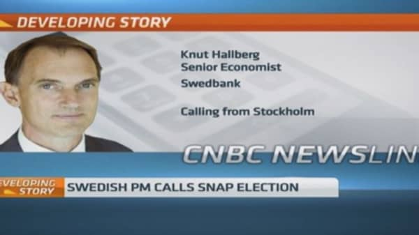 Swedish PM calls snap election after budget defeat