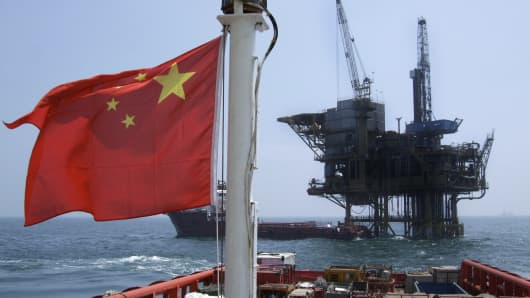A Chinese vessel involved in the oil exploration industry.