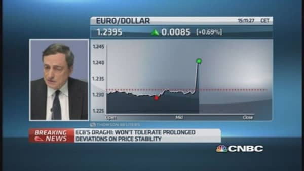 ECB doesn't need unanimity for QE: Draghi